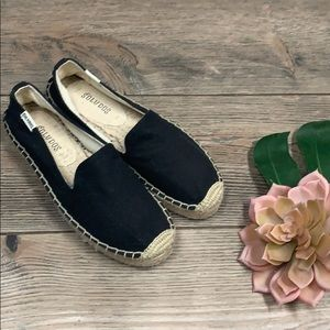 NEW SALUDOS Platform Smoking Slipper in BLACK 5